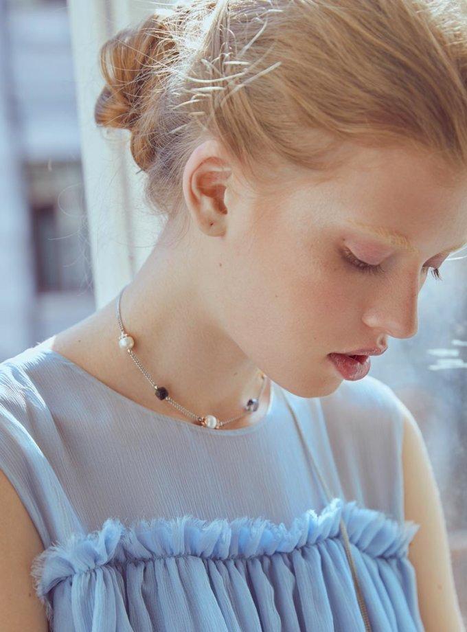 Колье Nicole с кварцем и жемчугом SMKSH_nicole, фото 1 - в интеренет магазине KAPSULA