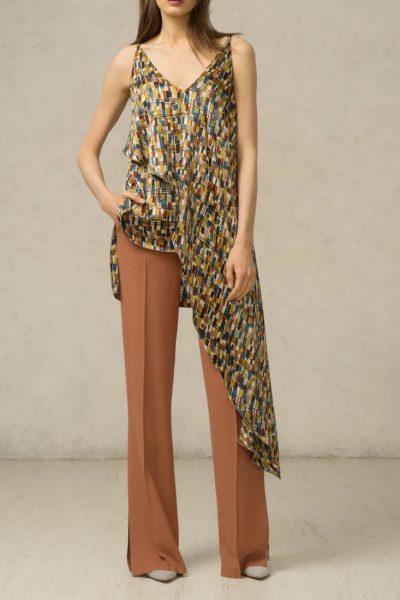 Шелковая блуза асимметричная SHKO_16014003, фото 4 - в интеренет магазине KAPSULA