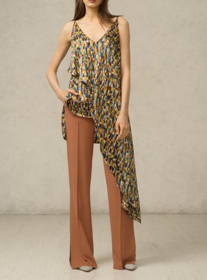 Шелковая блуза асимметричная SHKO_16014003_outlet, фото 1 - в интернет магазине KAPSULA