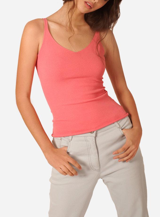 Майка облегающего силуэта из вискозы JND_16-121101_2, фото 1 - в интеренет магазине KAPSULA