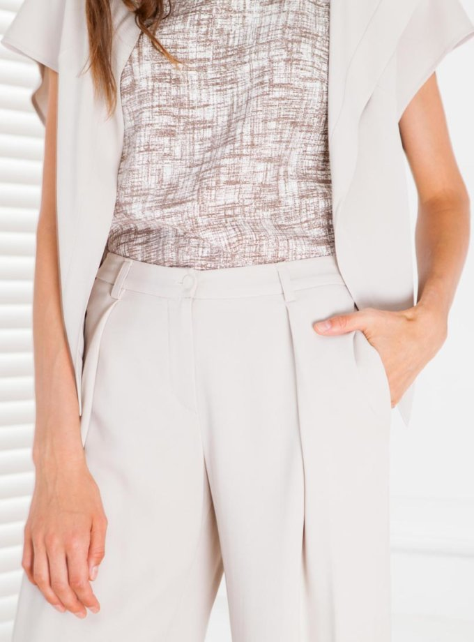 Широкие брюки с защипами спереди SHKO_15021001, фото 1 - в интернет магазине KAPSULA