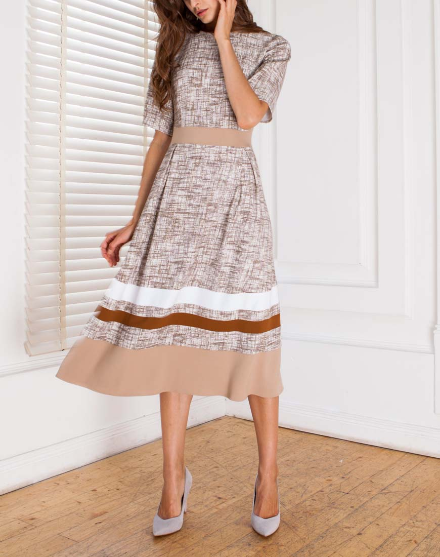 Платье из нежной двухсторонней вискозы