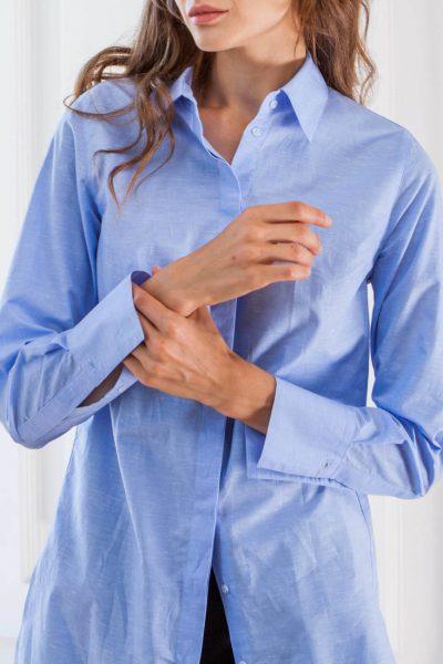 Рубашка прямого силуэта из хлопка SHKO_16001002, фото 10 - в интеренет магазине KAPSULA