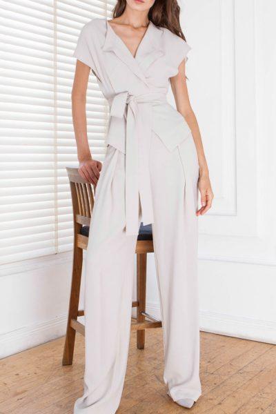 Широкие брюки с защипами спереди SHKO_15021001, фото 3 - в интеренет магазине KAPSULA