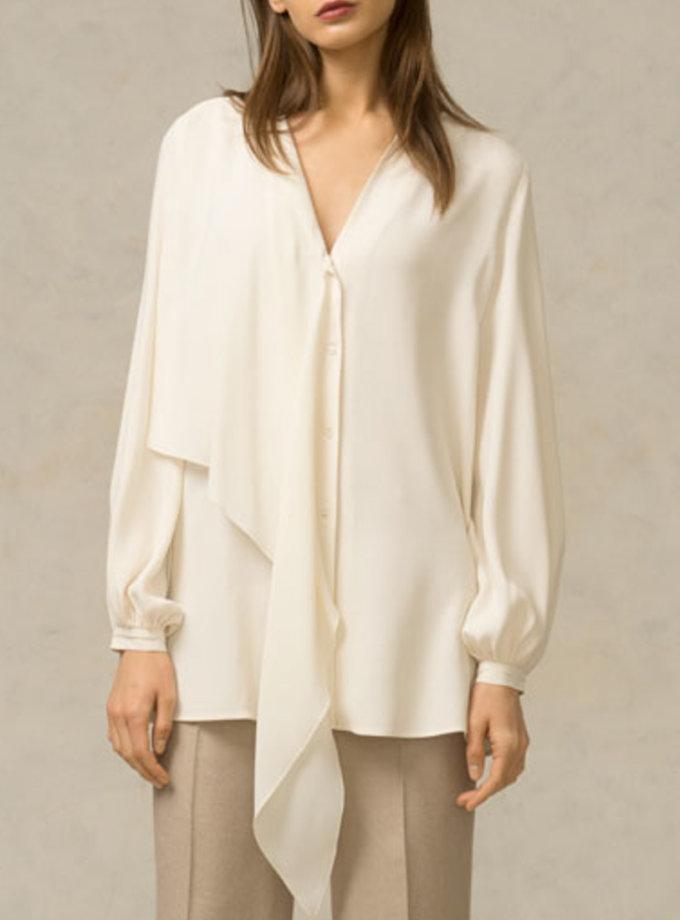 Блуза с воланом SHKO_16011001_outlet, фото 1 - в интернет магазине KAPSULA