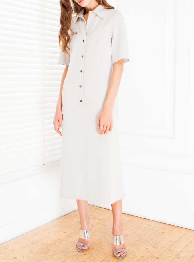Платье из джерси прямого силуэта SHKO_17006001_outlet, фото 1 - в интернет магазине KAPSULA