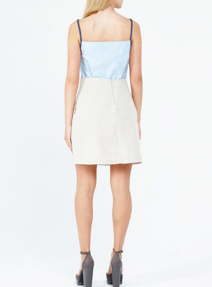 Льняная юбка-трапеция PPM_PM-06, фото 1 - в интеренет магазине KAPSULA