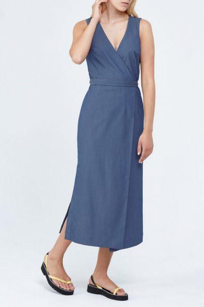 Платье с завязками PPM_PM-33_1, фото 4 - в интеренет магазине KAPSULA