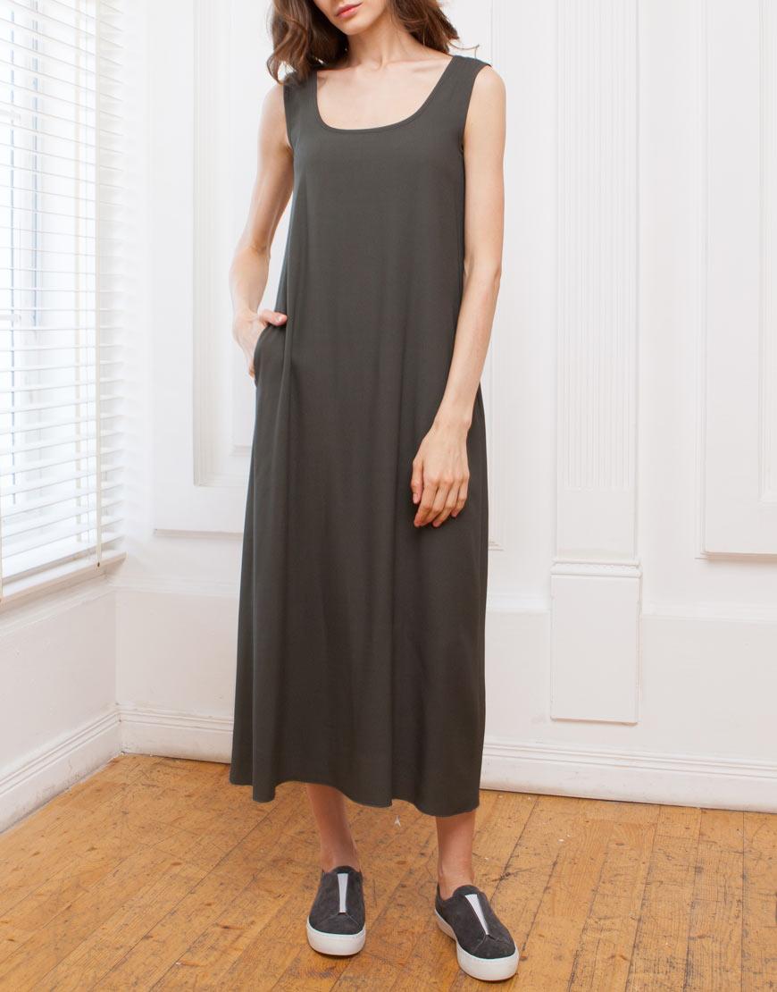 Платье-майка из вискозы