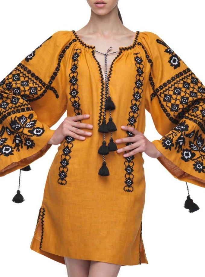 Вишитая туника Зоряна FOBERI_01055, фото 1 - в интернет магазине KAPSULA