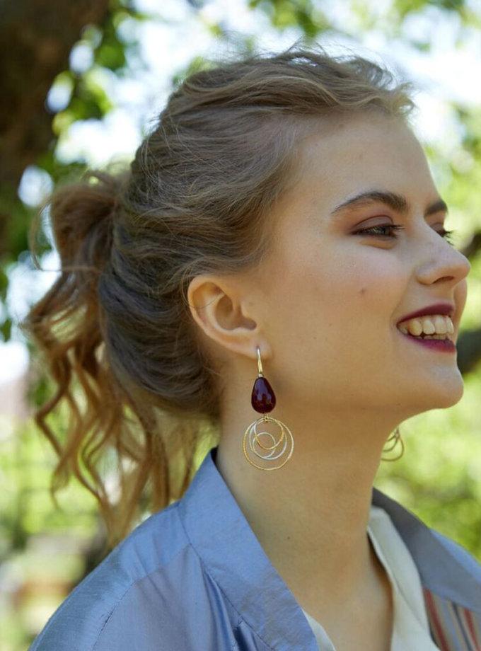 Серьги с винными агатами Susanna SMKSH_Julliet 26, фото 1 - в интеренет магазине KAPSULA