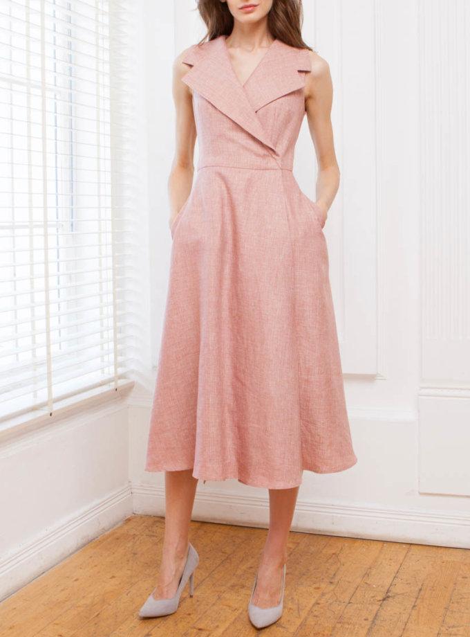 Платье на запахе из льна SHKO_14093001, фото 1 - в интернет магазине KAPSULA