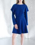 Платье из плотного трикотажа CYAN_DS#I01, фото 7 - в интеренет магазине KAPSULA