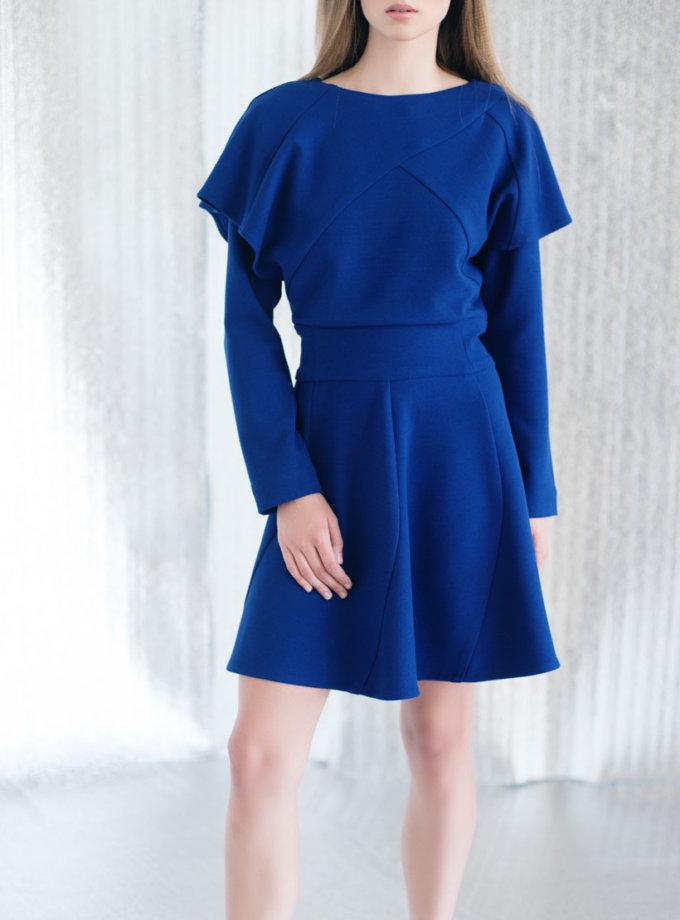 Платье из плотной костюмной ткани CYAN_DS#I02, фото 1 - в интернет магазине KAPSULA