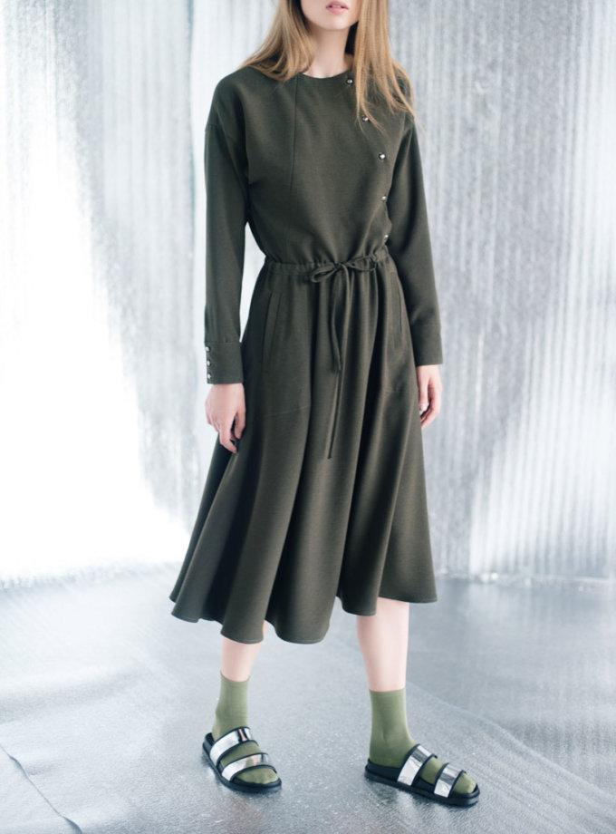 Платье миди на кулиске CYAN_DS#I03, фото 1 - в интернет магазине KAPSULA