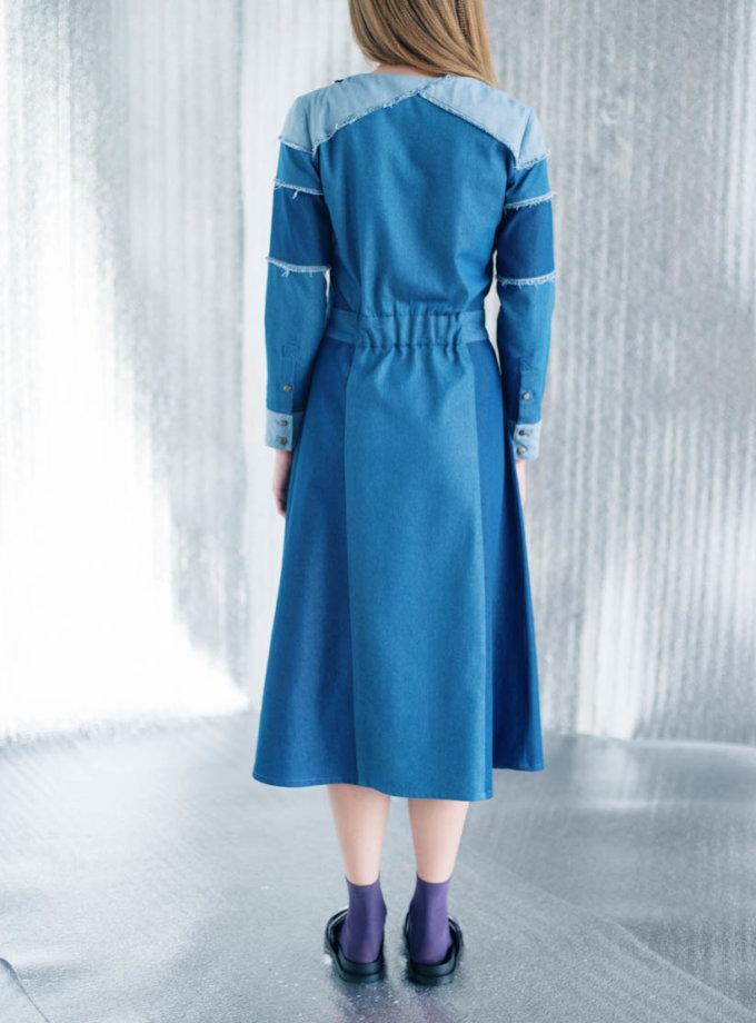 Джинсовое платье А-силуэта CYAN_DS#I06, фото 1 - в интернет магазине KAPSULA