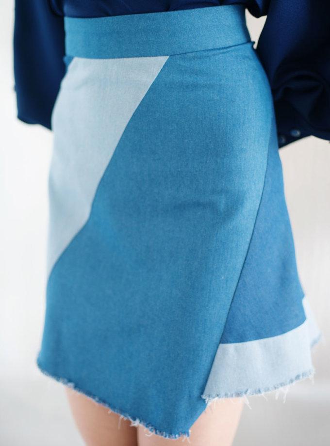 Юбка асимметричного кроя CYAN_ST#I02, фото 1 - в интеренет магазине KAPSULA