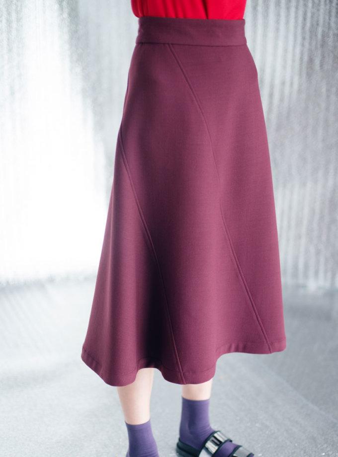 Юбка из плотной ткани CYAN_ST#I03, фото 1 - в интернет магазине KAPSULA