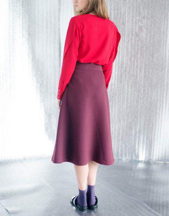 Блуза прямого кроя CYAN_TP#I02, фото 2 - в интеренет магазине KAPSULA