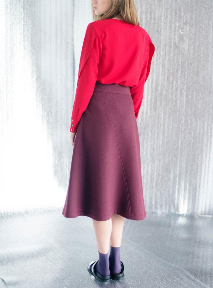 Блуза прямого кроя CYAN_TP#I02, фото 1 - в интернет магазине KAPSULA