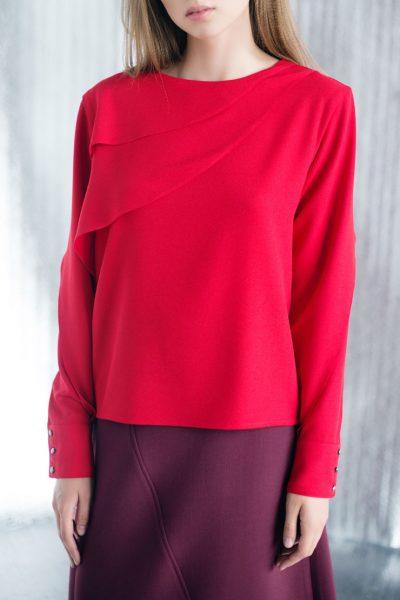 Блуза прямого кроя CYAN_TP#I02, фото 4 - в интеренет магазине KAPSULA
