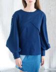 Блуза прямого кроя CYAN_TP#I02, фото 6 - в интеренет магазине KAPSULA