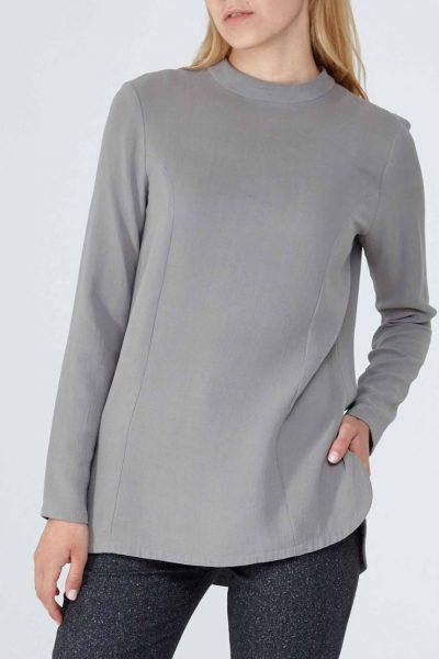 Блуза из плотного шелка PPM_PM-09, фото 5 - в интеренет магазине KAPSULA