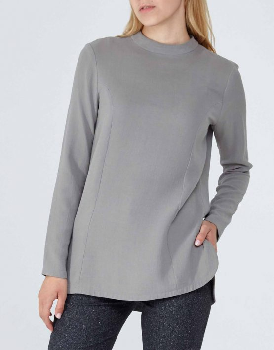 Блуза из плотного шелка PPM_PM-09, фото 6 - в интеренет магазине KAPSULA