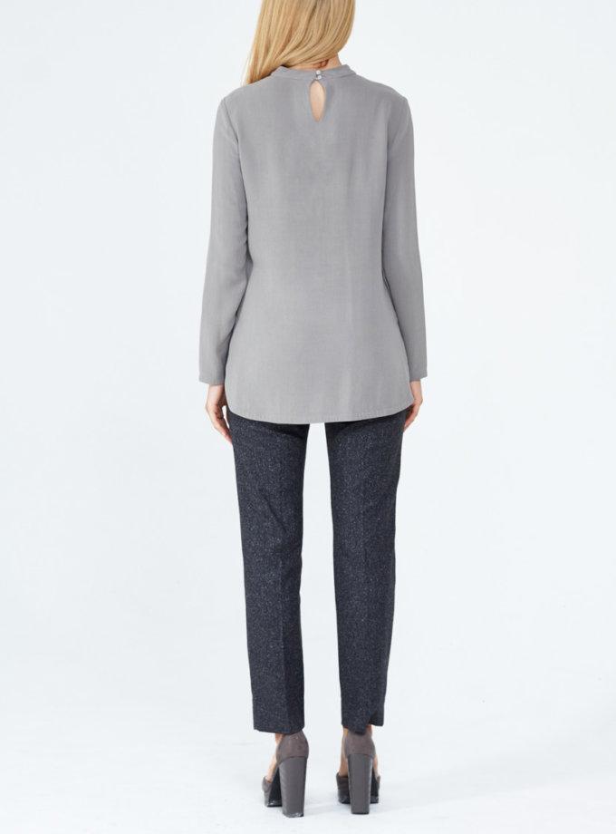 Блуза из плотного шелка PPM_PM-09, фото 1 - в интеренет магазине KAPSULA