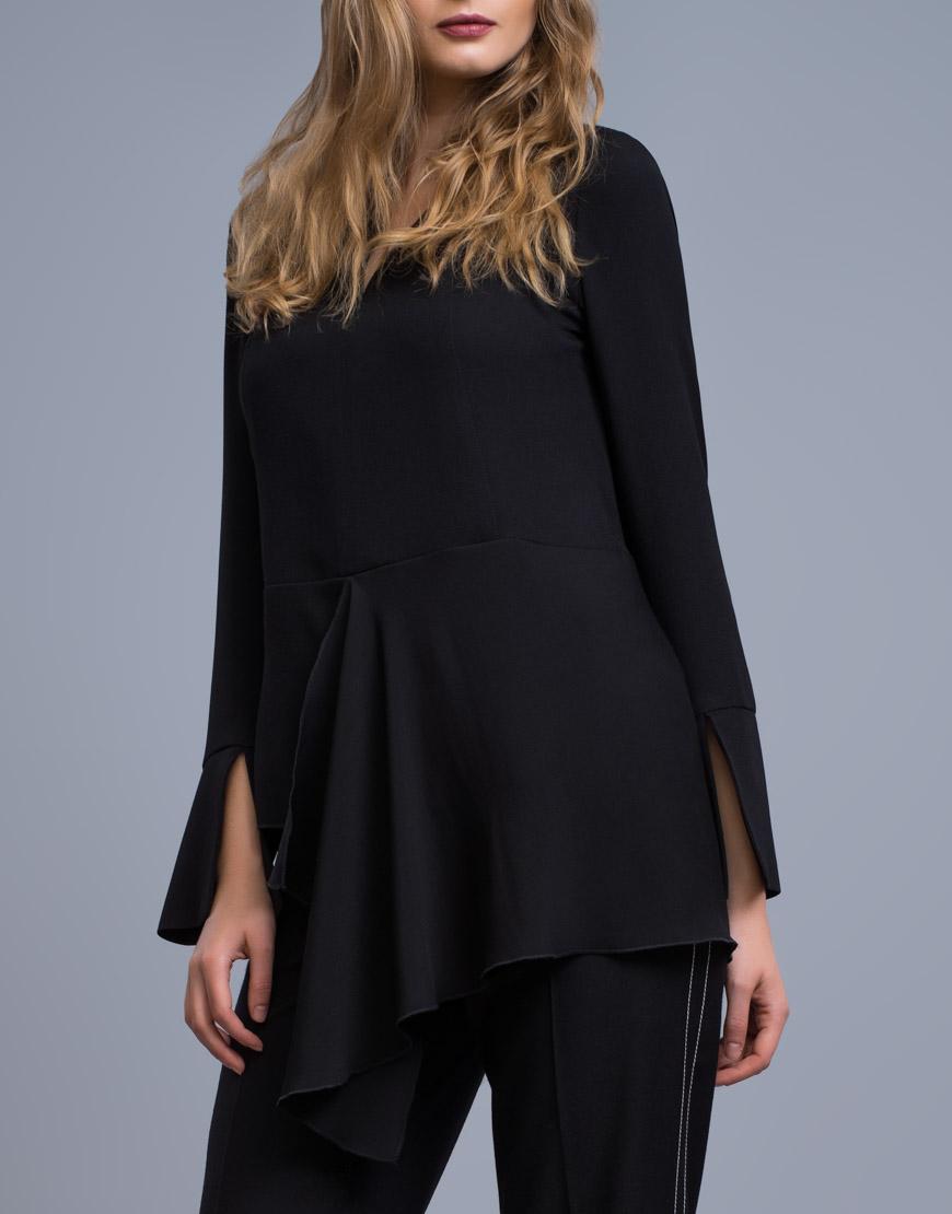 Купить Удлиненная блуза c баской