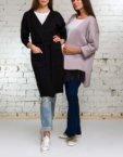 Легкий кардиган из шерсти с поясом и перьями HMCRG_grey100_white, фото 7 - в интеренет магазине KAPSULA