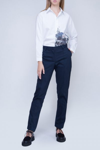 Хлопковые брюки с лампасами INS_FW17_1804_outlet, фото 1 - в интеренет магазине KAPSULA