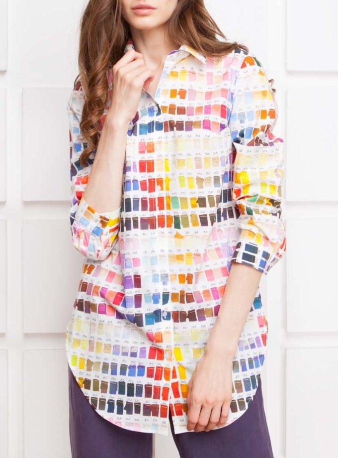 Рубашка из хлопка с шёлком SHKO_15029012_outlet, фото 1 - в интернет магазине KAPSULA