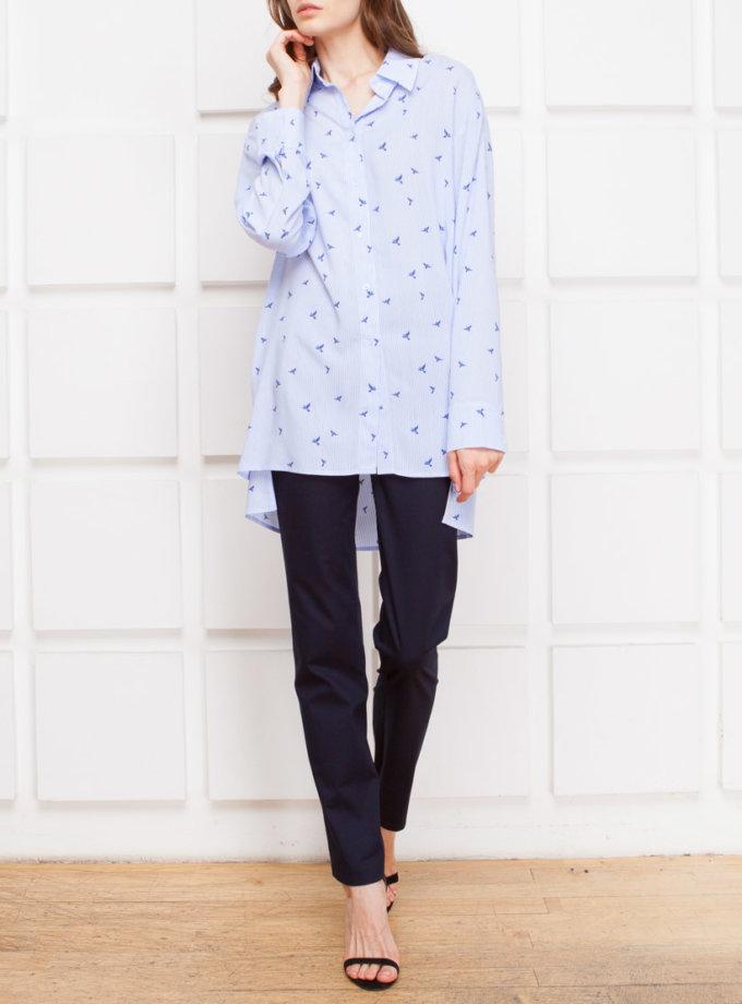 Рубашка принт с разрезами SHKO_17019001, фото 1 - в интернет магазине KAPSULA