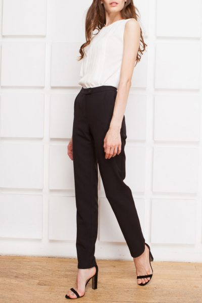 Зауженные брюки средней посадки SHKO_17025002, фото 4 - в интеренет магазине KAPSULA