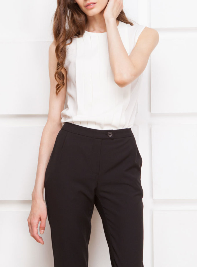 Зауженные брюки средней посадки SHKO_17025002, фото 1 - в интеренет магазине KAPSULA