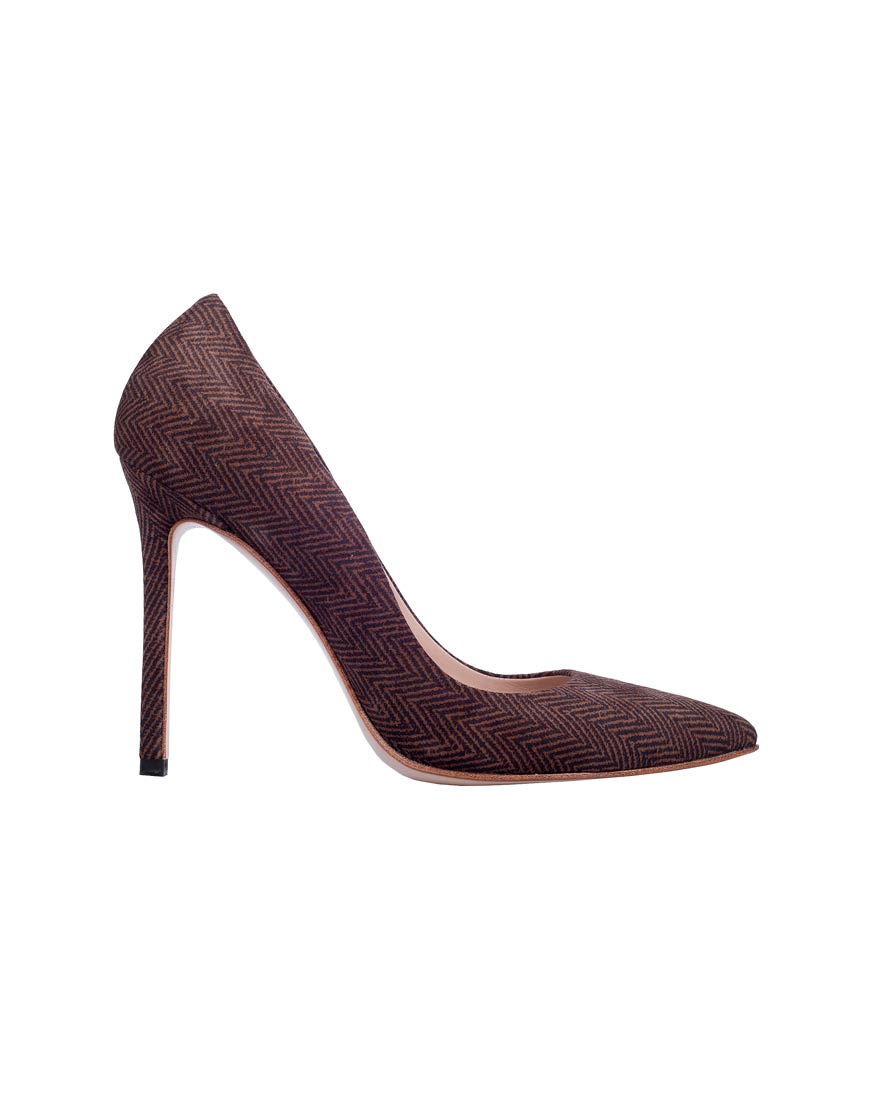 Замшевые туфли-лодочки Brown Tweed