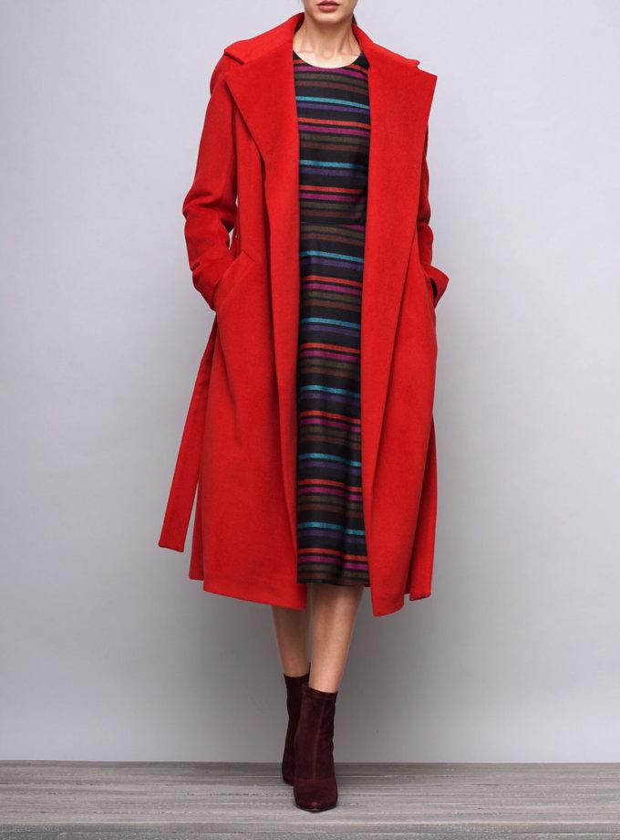 Пальто на запах из шерсти SHKO_15042033, фото 1 - в интеренет магазине KAPSULA