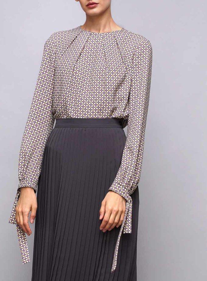 Блуза с бантами на манжетах SHKO_17032002, фото 1 - в интернет магазине KAPSULA