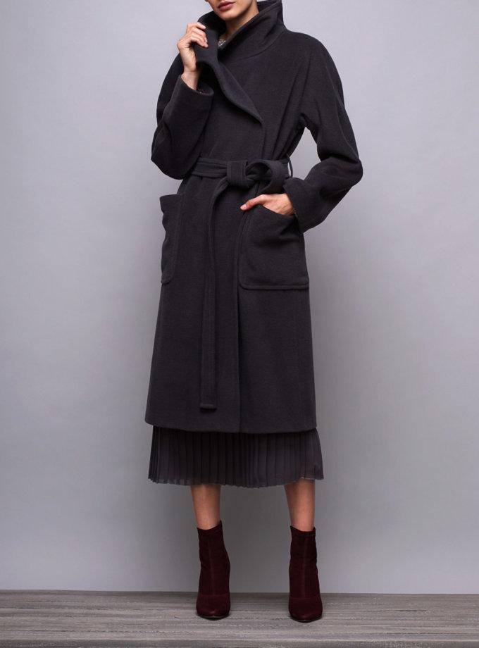 Пальто шерстяное с накладными карманами SHKO_16060001, фото 1 - в интернет магазине KAPSULA