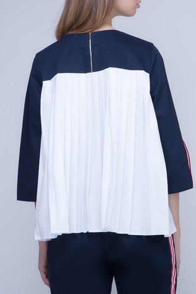 Блуза с плиссировкой на спине INS_FW17_1802, фото 1 - в интеренет магазине KAPSULA