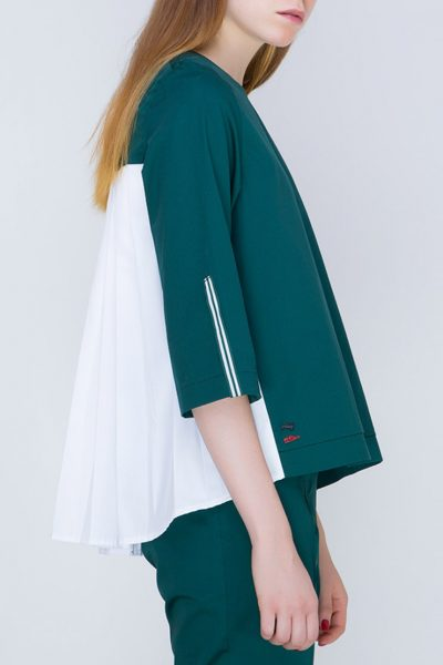 Блуза с плиссировкой на спине INS_FW17_1802_2_outlet, фото 1 - в интеренет магазине KAPSULA