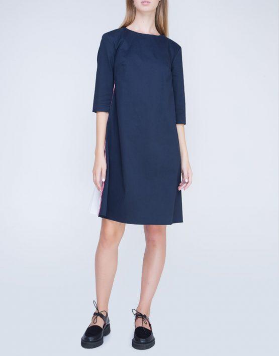 Платье с плиссировкой на спине INS_FW17_1807, фото 2 - в интеренет магазине KAPSULA