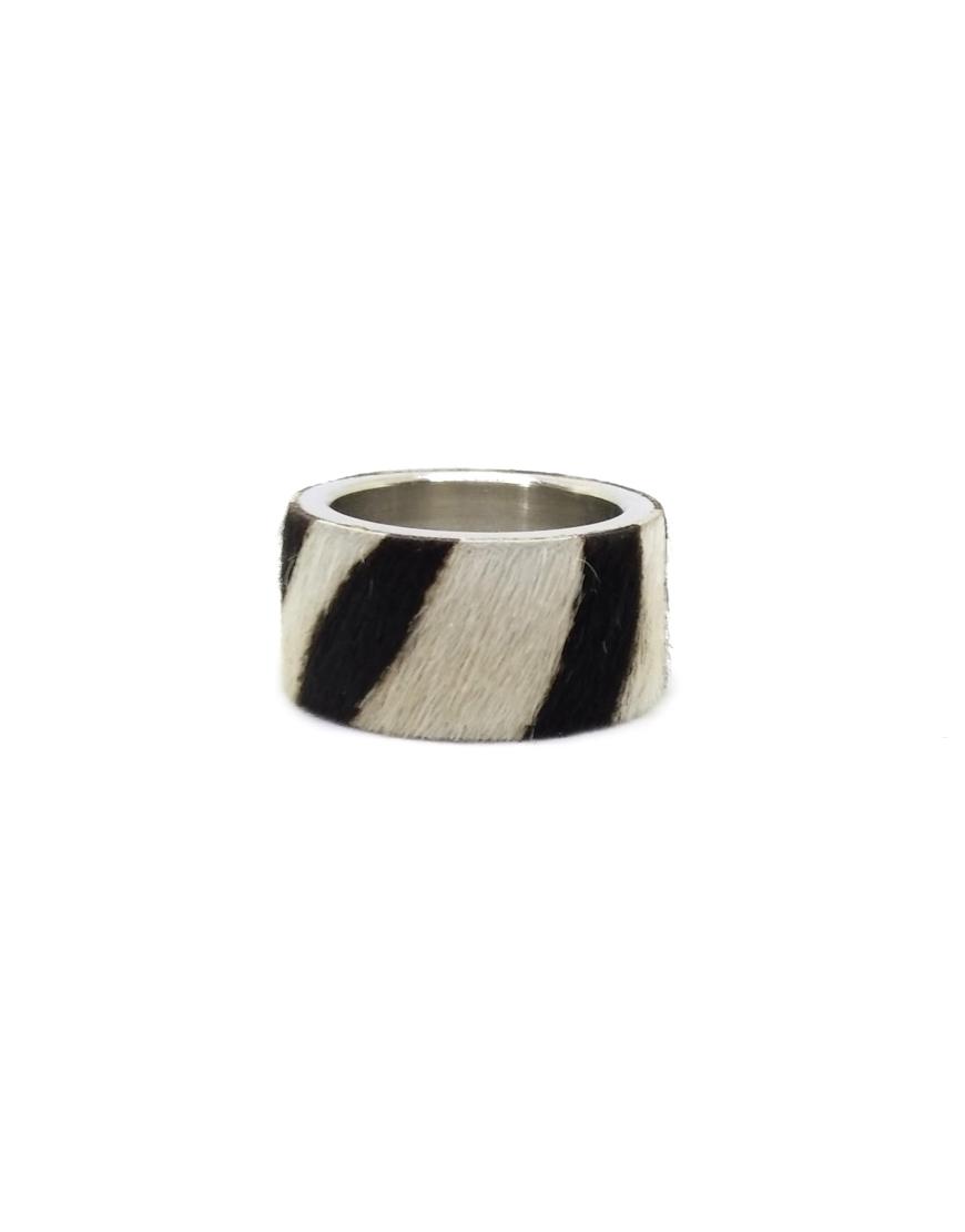 Стальное кольцо STEEL с мехом пони