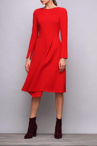Платье приталенное из шерсти SHKO_17031001, фото 4 - в интеренет магазине KAPSULA