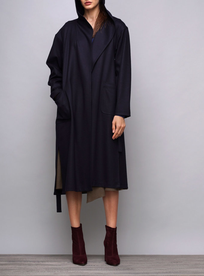 Пальто с капюшоном из шерсти SHKO_17039004_outlet, фото 1 - в интернет магазине KAPSULA