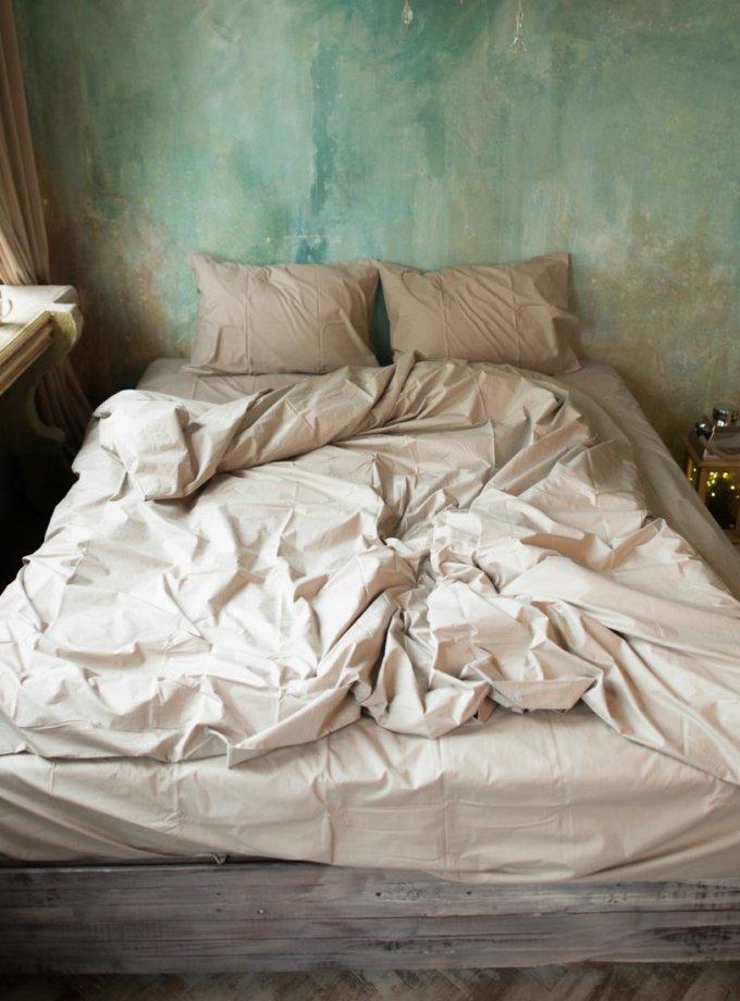 Комплект постельного белья Теплый латте HMME_050810, фото 1 - в интернет магазине KAPSULA