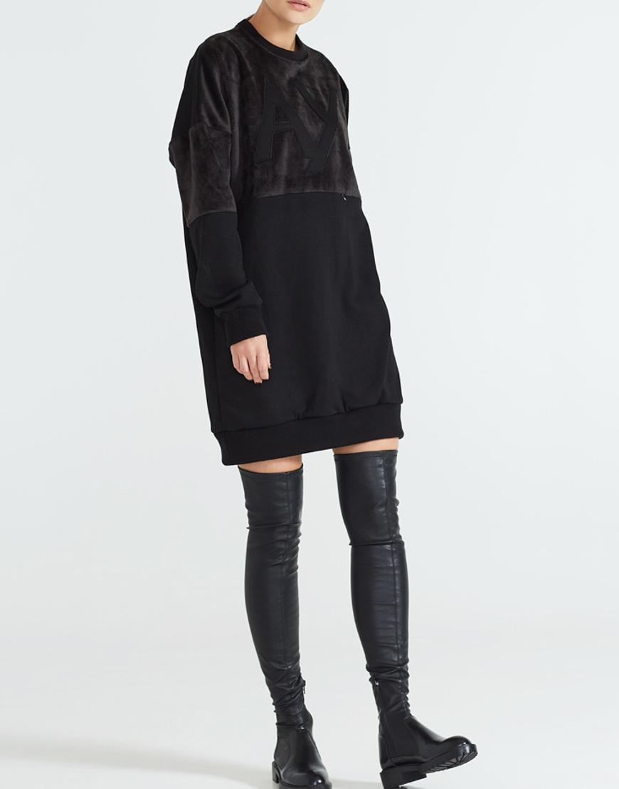 Платье мини из хлопка