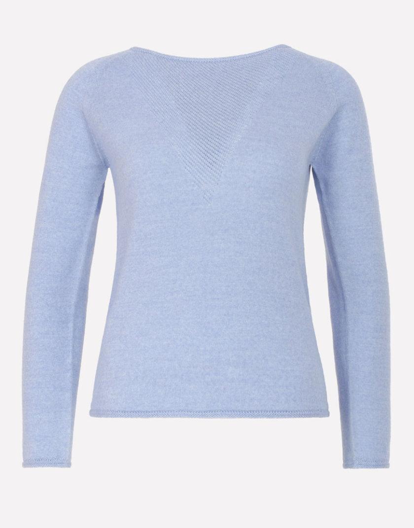 Бесшовный шерстяной джемпер JND_17-010221_blue, фото 1 - в интернет магазине KAPSULA
