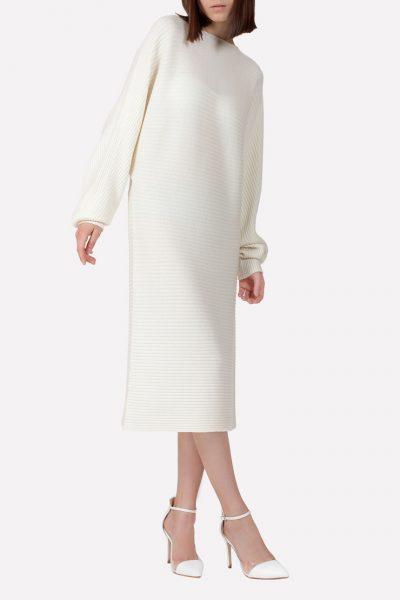 Бесшовное шерстяное платье JND_17-010615_milk, фото 3 - в интеренет магазине KAPSULA